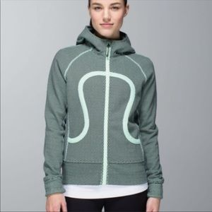 LULULEMON Scuba Hoodie with Stretch in Teal/Black